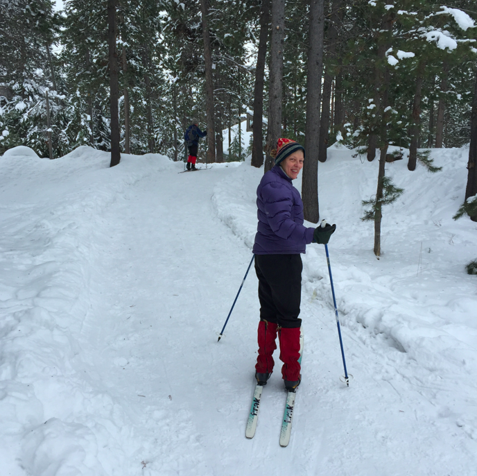 My parents not only taught me to live the wilderness and nature, but they passed on their love for cross country skiing and being active in nature. My mom, 68 year old, bikes to work every single day, and loves to ski. I am in awe.