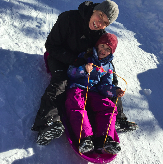 Sleding right into the New Year (with my beautiful and sweet niece, Alagna).