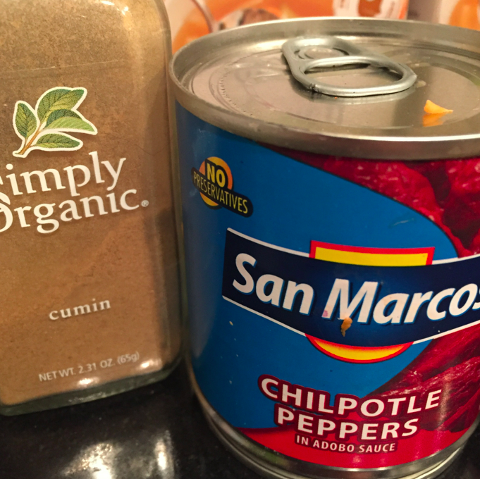 Cumin and chipotle peppers.