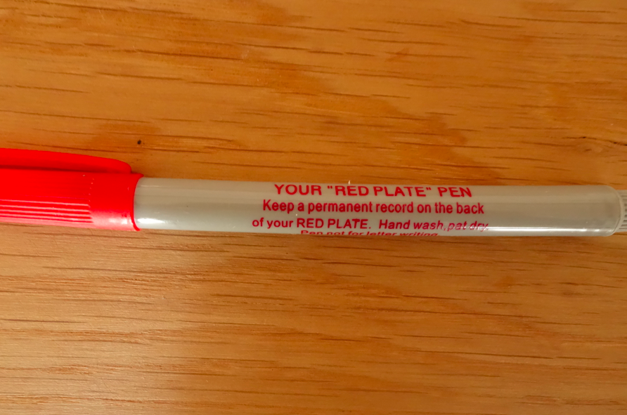comes with a pen.