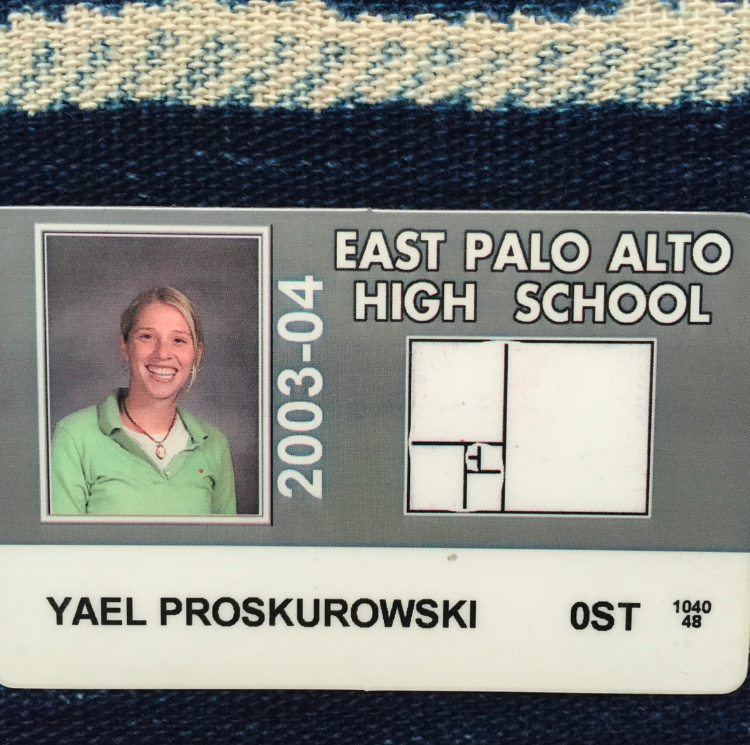My ID from East Palo Ato High School where I student taught and learned so much. Hands on experience is the only way to fully understand the difficulty, struggle, rewards, and benefits of teaching. Teaching is so much more than the subject matter.