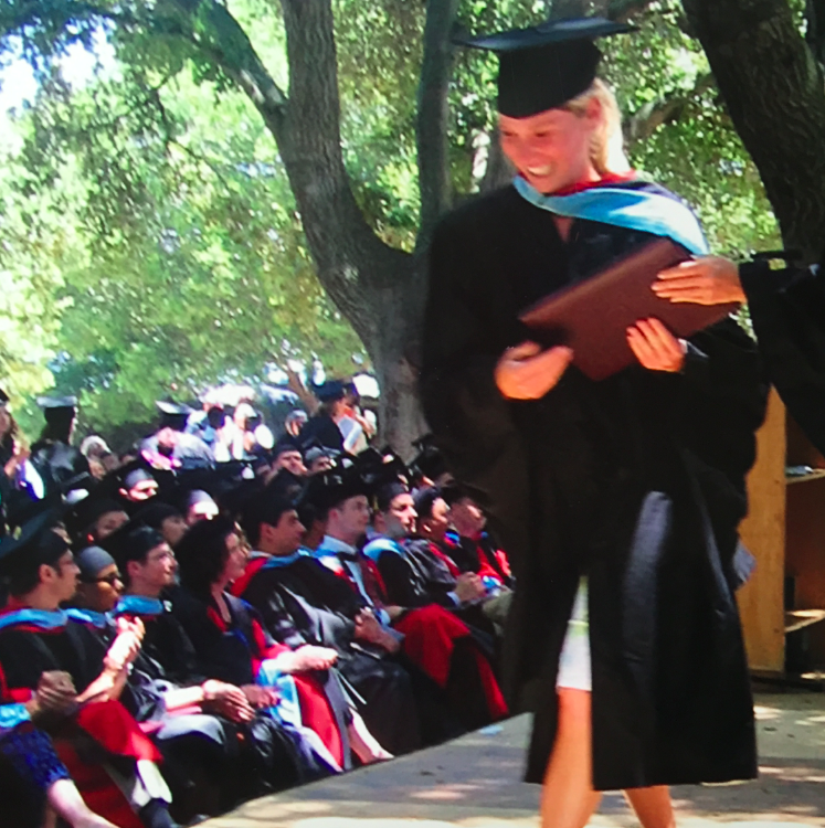 Graduating from Stanford with my MA in 2003.