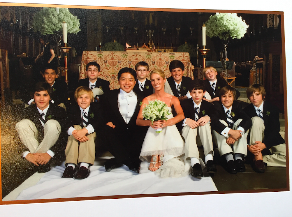 My students in 2007 touched me so much that they were actually a part of our wedding!