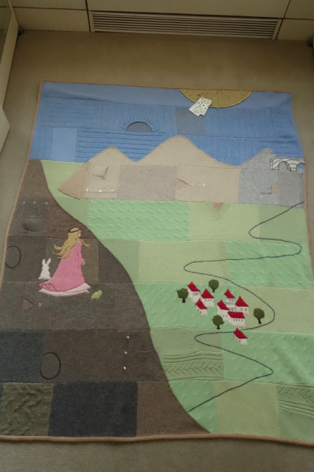 Toosh's quilt, The Princess and the Sunny Day.