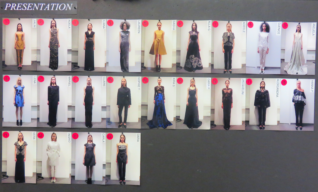 The presentation board of the 22 looks.