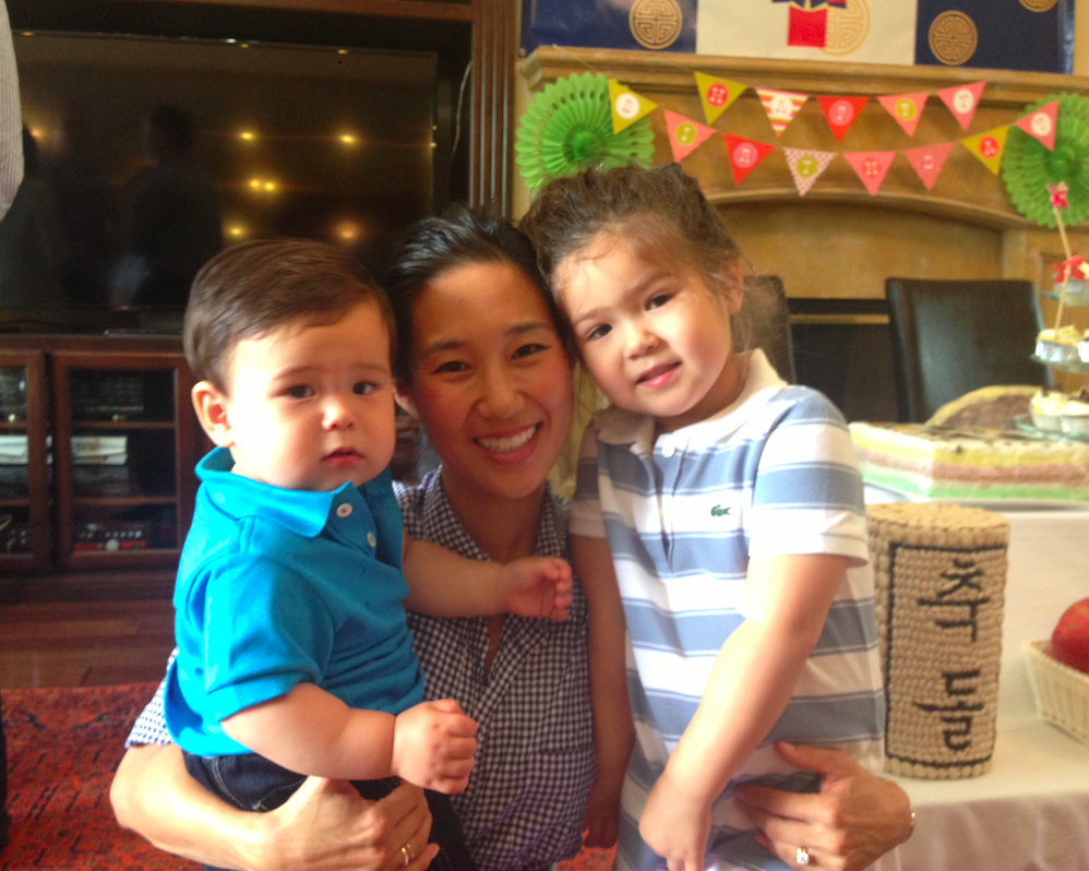 Irene and her two kids: Phoebe and Luke