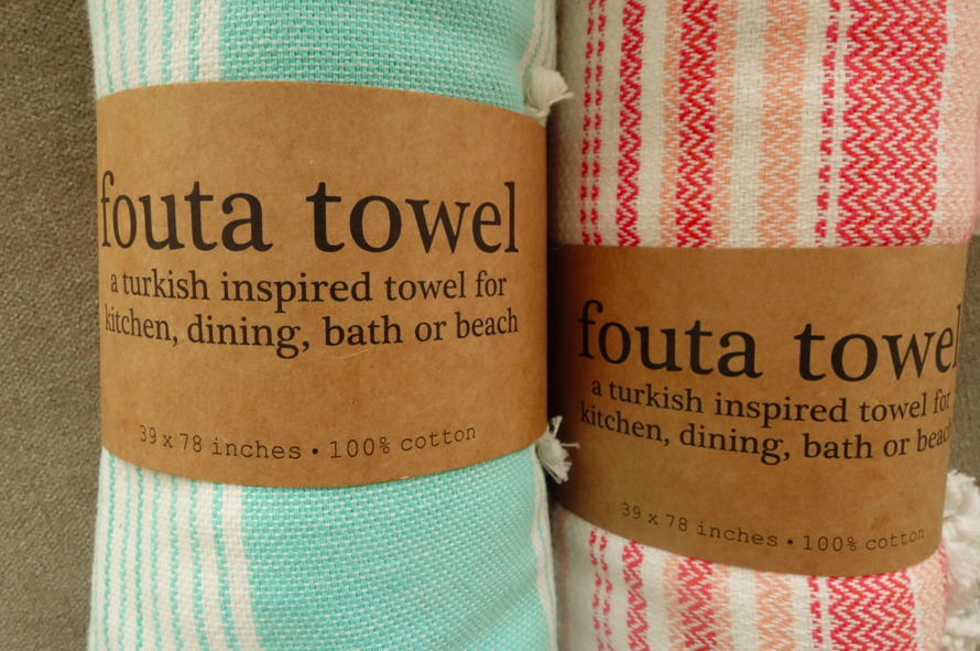 Fouta towel, instead of being a toufer, it is a fouta foufer.