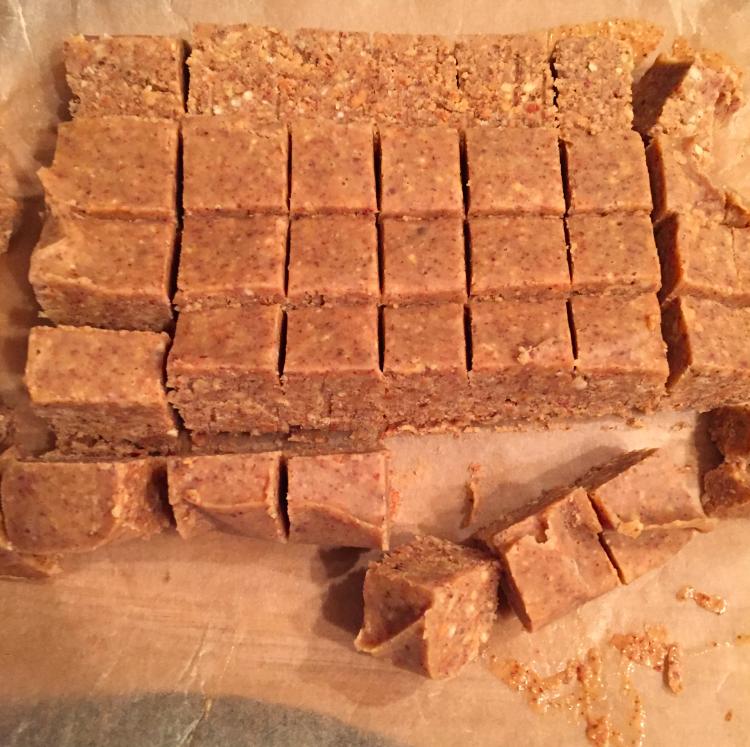 Frozen fudge pre-chocolate sauce added.