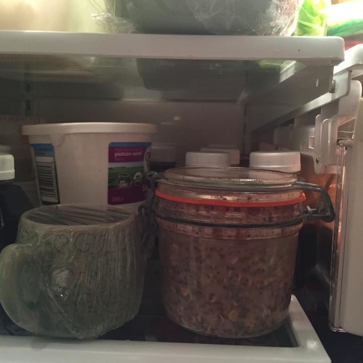 Place in fridge overnight.