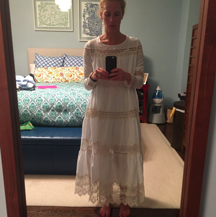 Yes, it is a mumu slash wedding dress, but I love it. Not sure where I am going to wear it, but I am going somewhere and I am rocking a cotton lacey mumu.