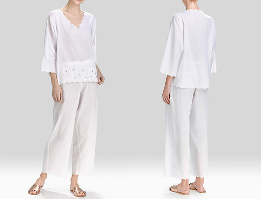 Clean, crisp, white cotton. Nothing better to prepare you for Summer.