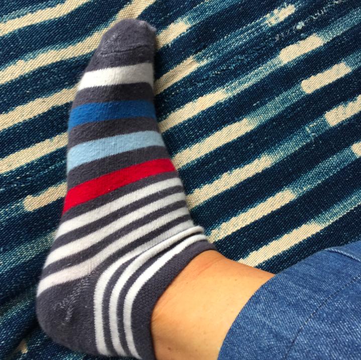 Striped ankle socks.