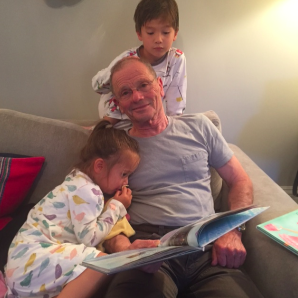 The kids love reading with their Tata. I distinctly remember my childhood with my father reading to me every single night.