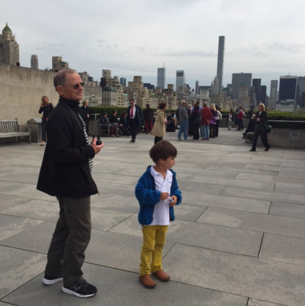 One day after school, we went up to the Roof at the Met to see the view (and the Cornelia Parker house).