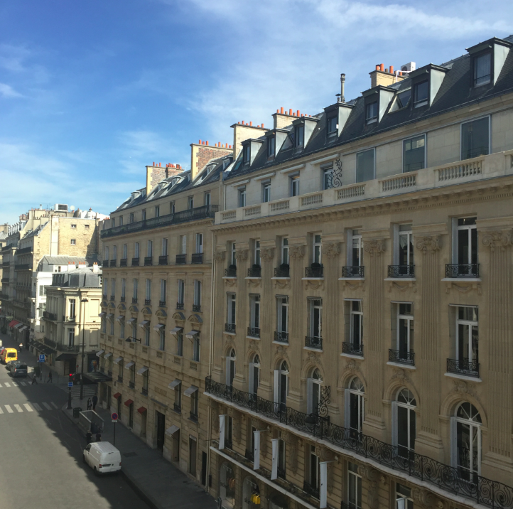 The view from the apartment. There is just something so special and glamorous of the buildings there. #BuildingEnvy