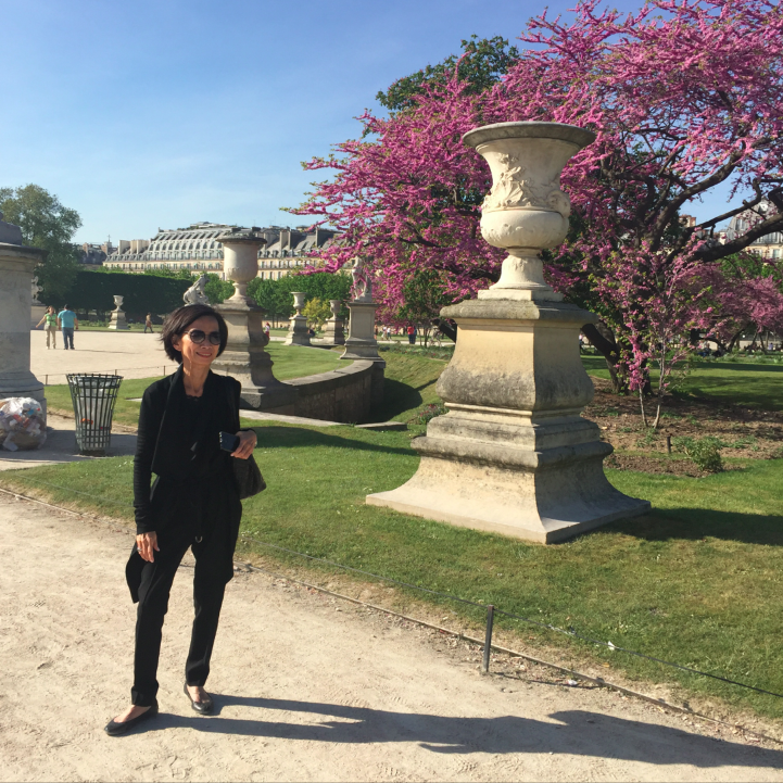 My mother-in-law and I roamed the Jardin de Tuileries. Paris with the light and sun can't get any better.