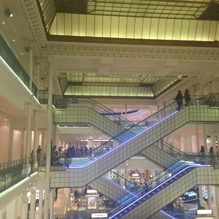 We toured every shop in town. Left bank, right bank, every corner and inch, we saw it all. My favorite store is Le Bon Marche on the Left Bank -- and even the building itself is spectacular.