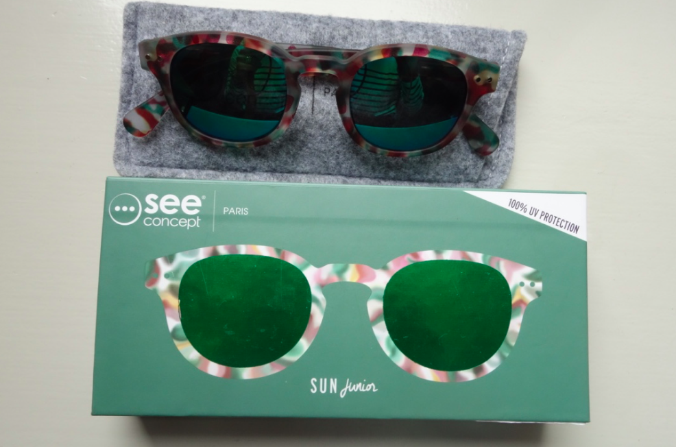 Inside the box, the glasses and its case.