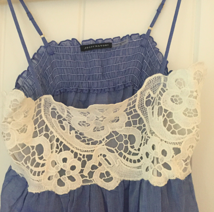 Lace on the top -- done in the Natori factory in the Philippines.