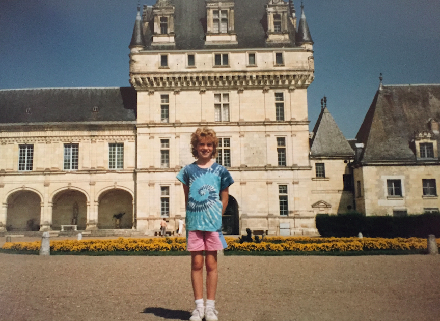 Before we get to the packing bags, I want to show you a picture of me when I was 8 years old in France. I know, right, I am the CUTEST kid you have ever seen? Mullet and perm, why YES, that is the best look EVER EVER EVER.
