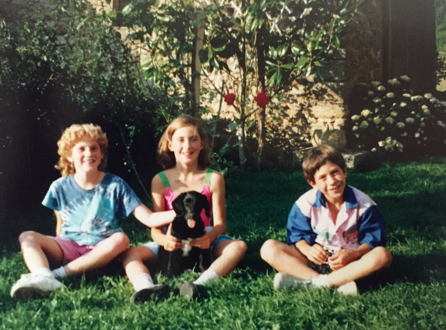 I had to show you another look at how beautiful I was. I apparently loved the blue tie dye shirt (good thing, I still love tie dye). Here I am with my french sister and brother. Cruzzie and I are going to see Elsa this week, and I am so excited to see her.