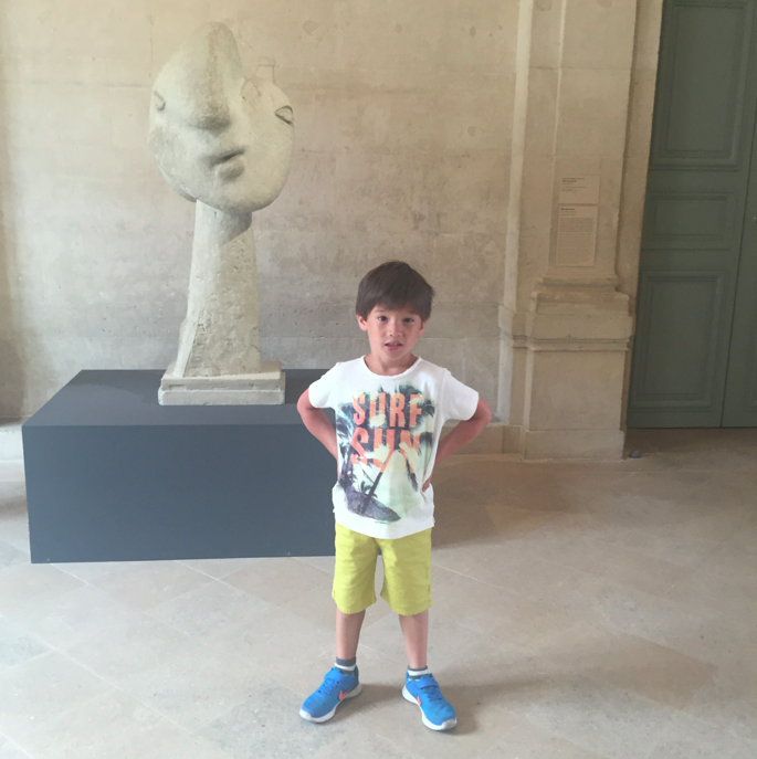 Cruzzie learned about PIcasso in school, so it was fun to make the trek to the museum. Plus, there are always bathrooms (clean) in museums.