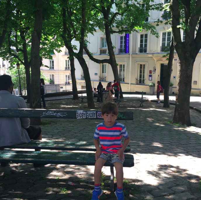 Exploring the streets in Monmartre.