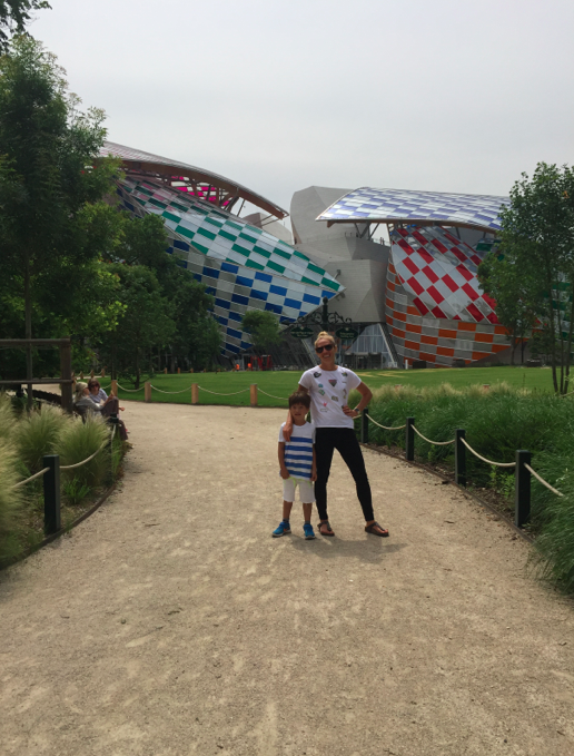 Didn't make it inside the new museum, but did get a photo of us from the fairground.