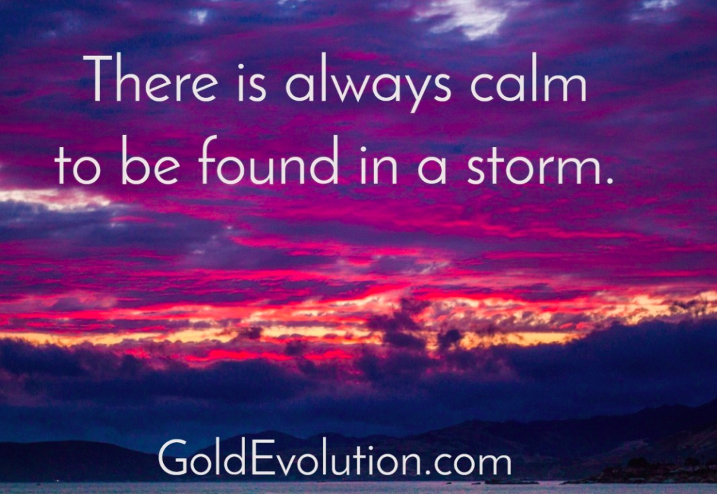 Storm and calmness.