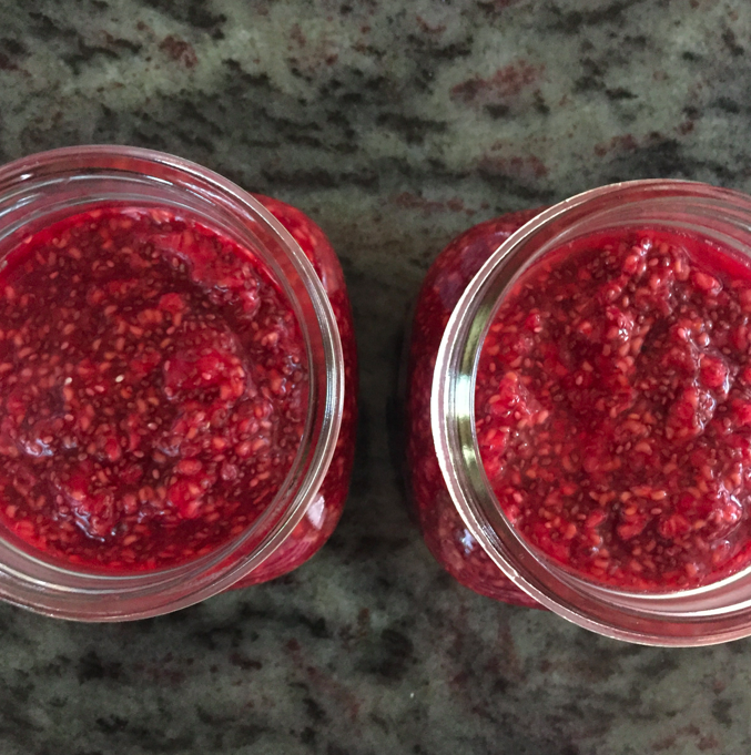 Look at them raspberry chia seed jams.