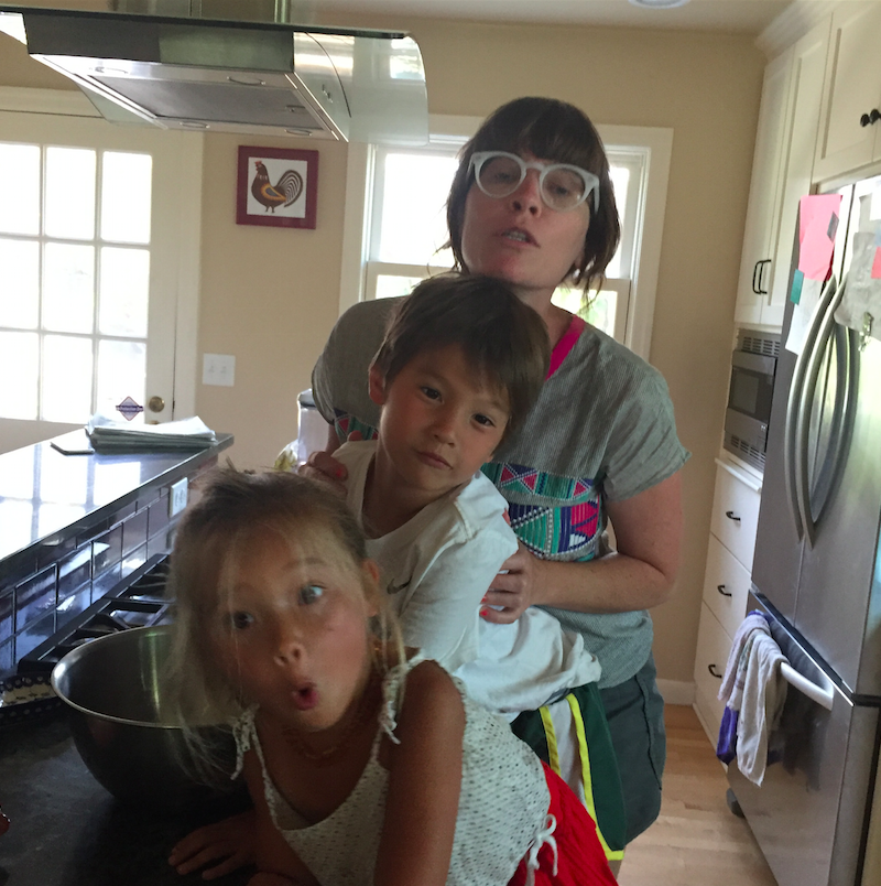 My helpers: Little girl, Big Little Boy, and Biffle Midge.