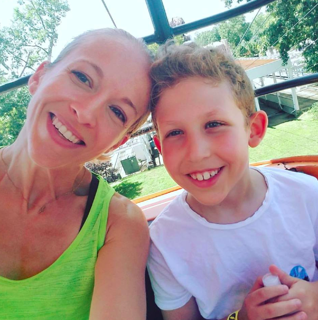 Beautiful Pamela and her 8 year old son, Jesse.