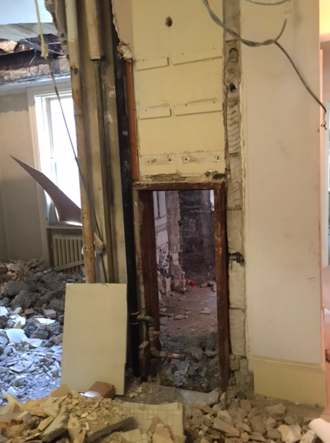 We are expanding the entry way on both floors to be more open.
