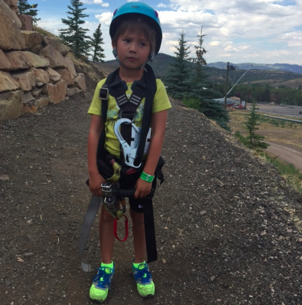 Ready to zip line!