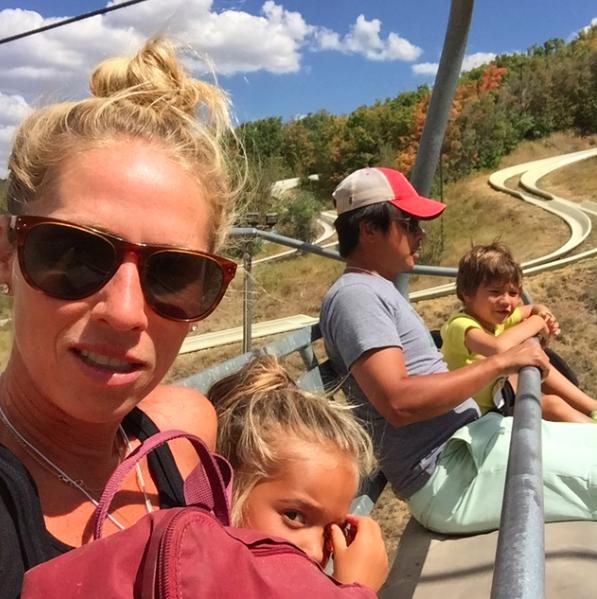Chairlift family selfie....I am surprised I didn't drop my phone.