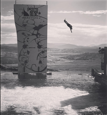 in the summer, ski jumpers practice at the Olympic Park by jumping into water. Makes sense! And super fun to watch. Credit: Ken's Instagram.