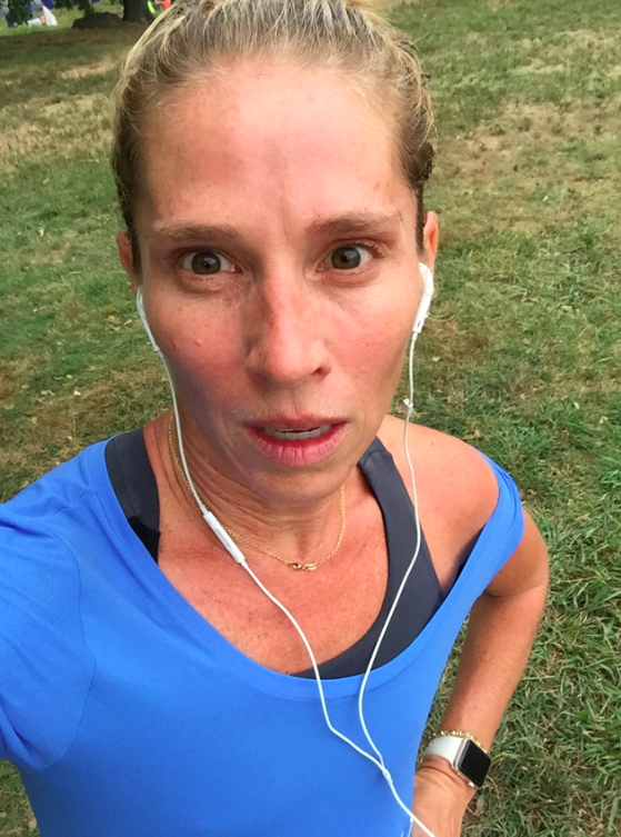 Yesterday, I ran an 18 mile race in Central Park. I felt ok considering that my legs were sore from a workout class that I took on Friday....so every single step hurt. But I pushed through, and I did it. So I am proud. Also, I am starting a new fashion trend of off the shoulder running tops.