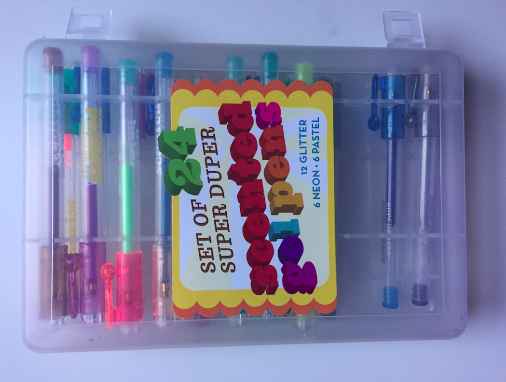 Currently, these are Tusia's favorite pens. She uses them for all her coloring. She ran out of ink with the gold and pink gel pens so I had to get her in another set so she could have her favorite pens again.