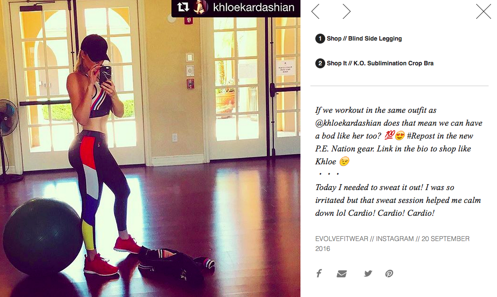 Kloe Kardashian blew up the internet with these PE Nation pants.