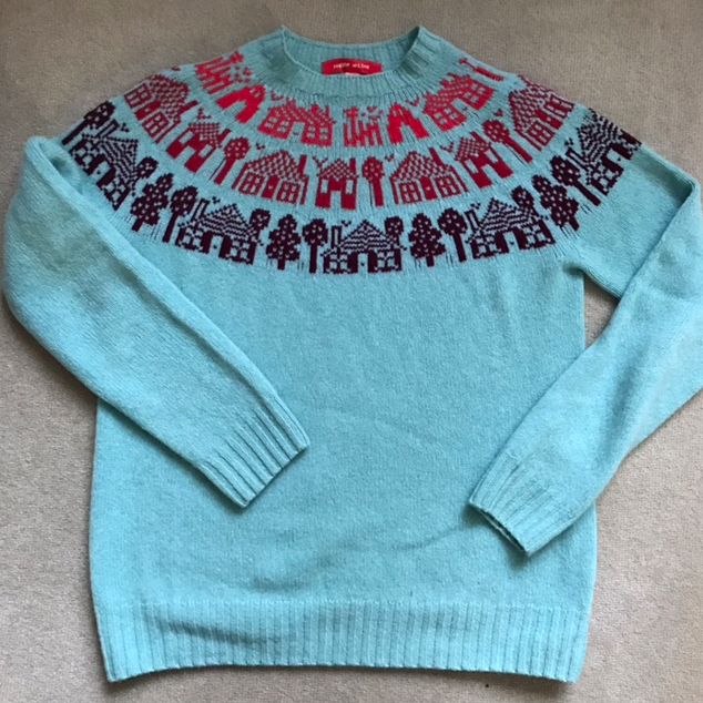 A contemporary version of a Fair Isle sweater.