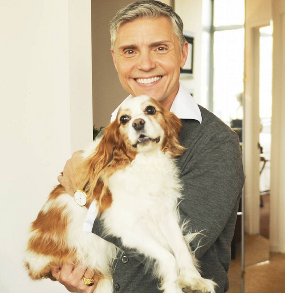 David Monn, and his dog, Sammy. What a handsome pair!