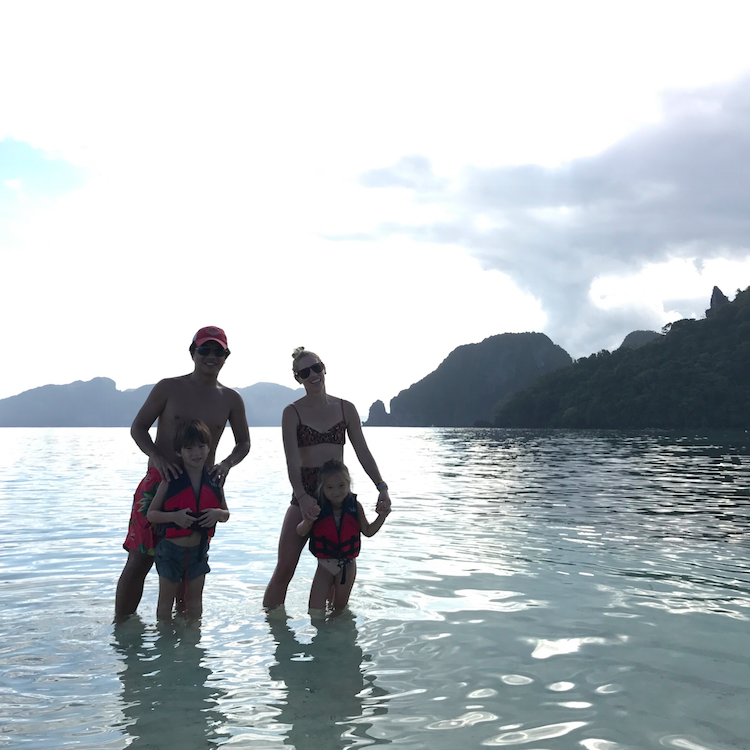 We went to Snake Island and walked on the sand bar from island to island.