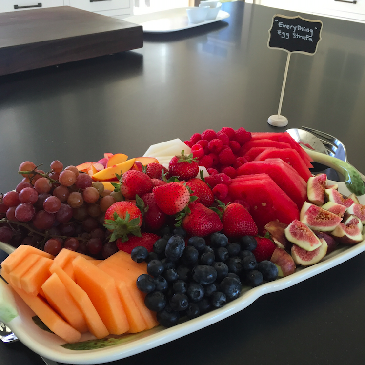 Fruit plate. Goals again!