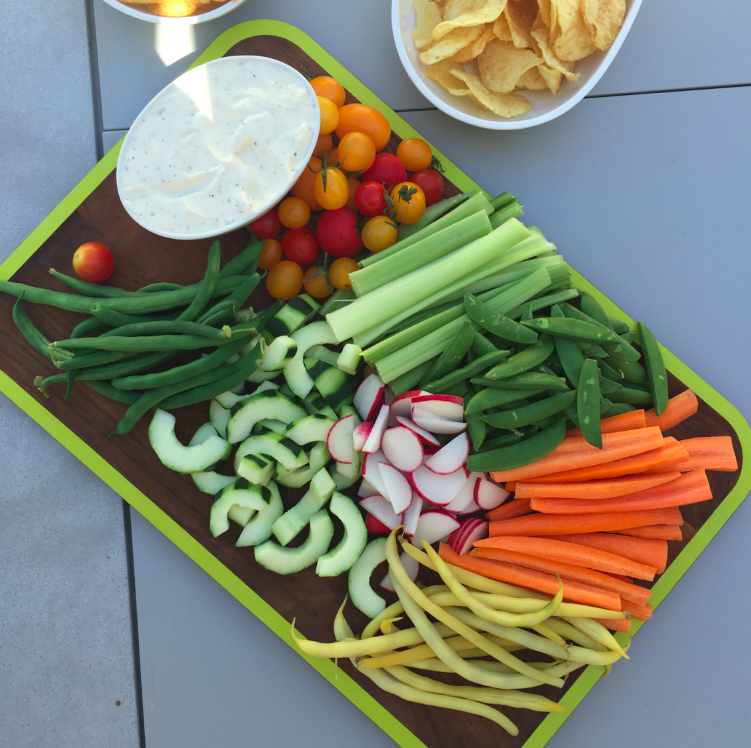 The crudite plate. Best looking (and tasting) thing I have ever seen.