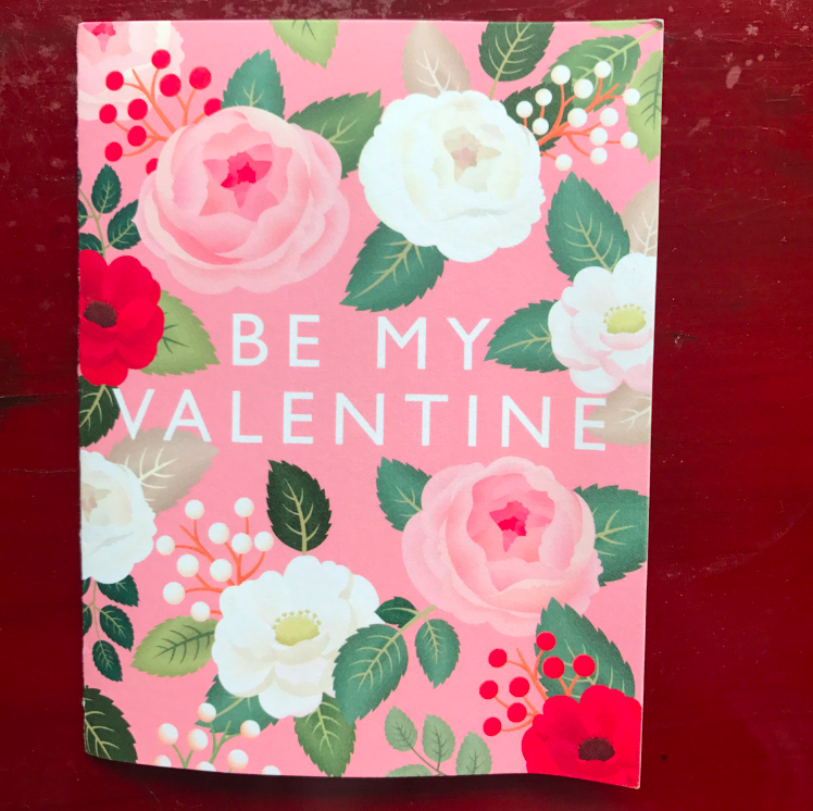 For Valentine's Day, I sent my husband this beautiful card. Not that he thought it was beautiful (he doesn't notice this type of thing), but I love love loved it.