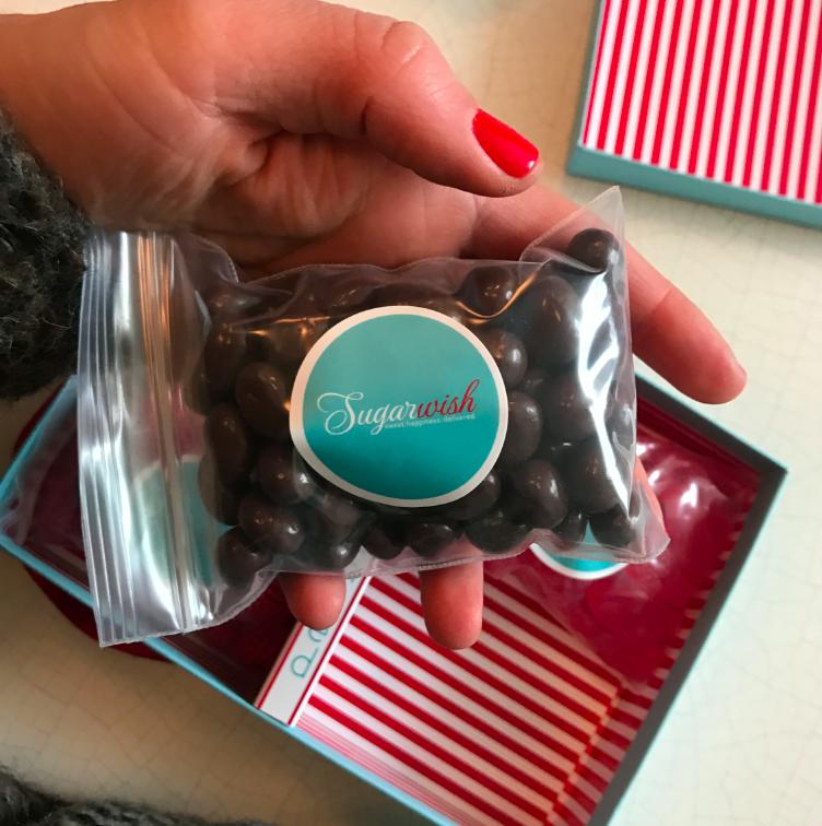 Chocolate raisins -- my favorite.