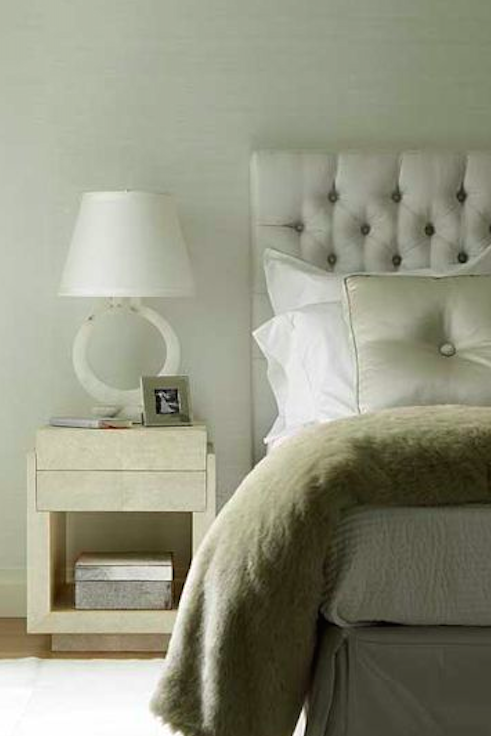 Patrick Lohn interiors with the perfect bed ensemble.