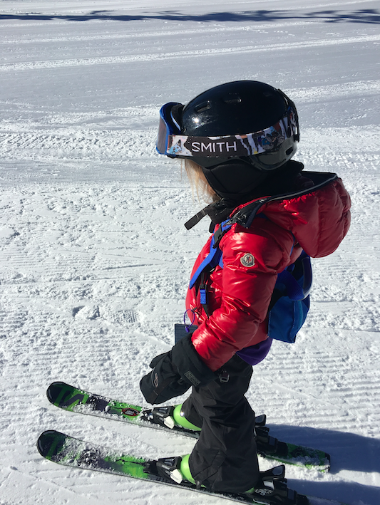 It was Toosh's first time on skiis and she did great. She doesn't love skiing as much as Cruzzie (who spent every weekend in the North East on a hill / mountain skiing). But she made tremendous progress and soon it will be second nature....