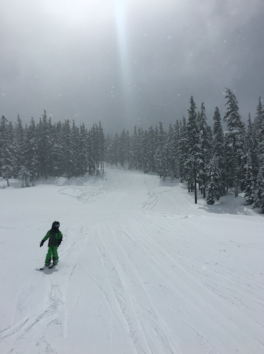 The snow in the PNW is great -- powder and fresh.