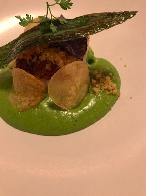 This was the cod, which happened after the amuse buche, the gnocci, and the pate. And before the steak, avocado ice cream, and the dessert.
